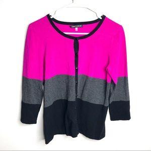 Cable & Gauge Pink Black Button Down Shirt